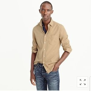 NWT J. Crew Slim Garment Dyed Shirt